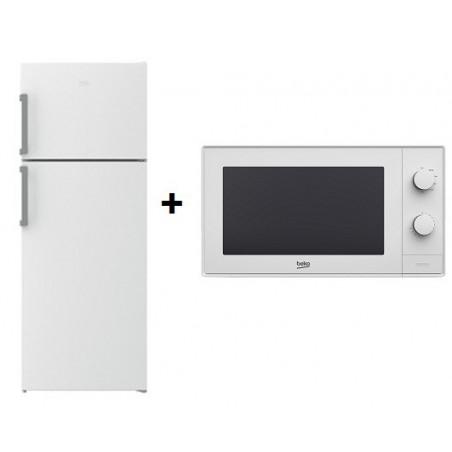 Réfrigérateur BEKO No Frost 500L / Blanc + Micro-ondes