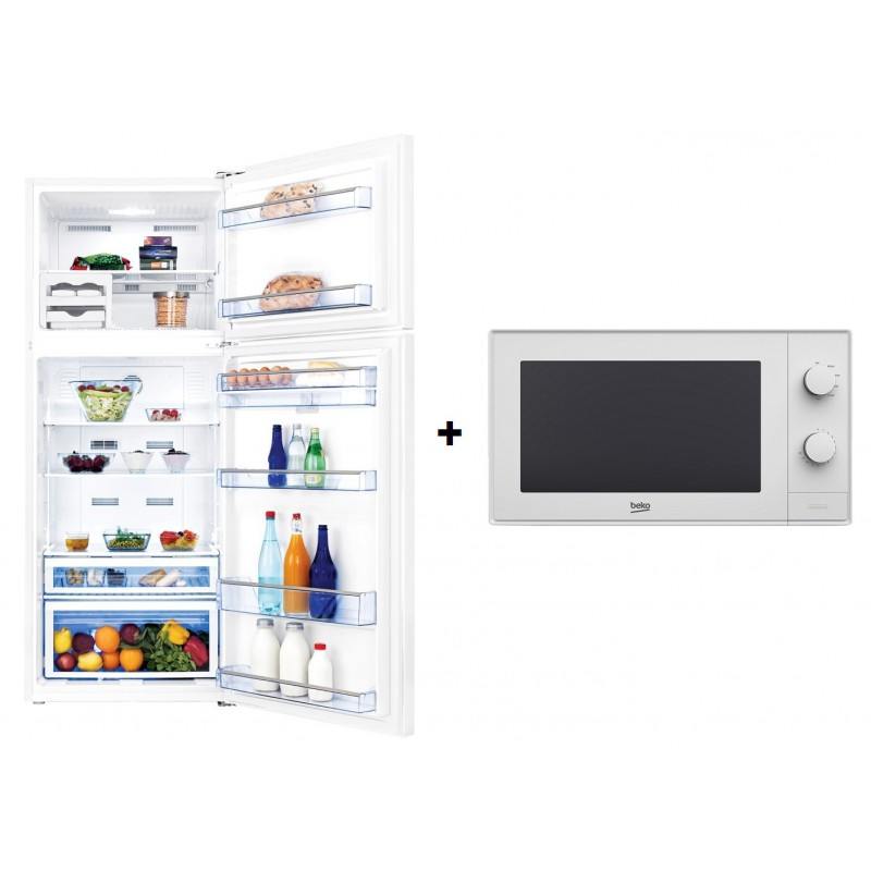 Réfrigérateur BEKO 630L / Blanc + Micro-ondes