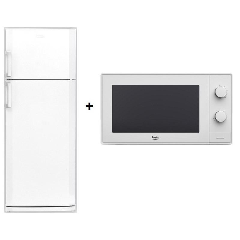 Réfrigérateur BEKO DN 155100 / 500L / Blanc + Micro-ondes