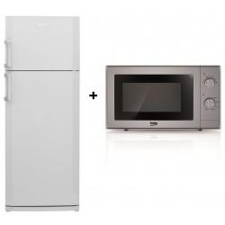 Réfrigérateur BEKO DN 155100 / 500L / Silver + Micro-ondes