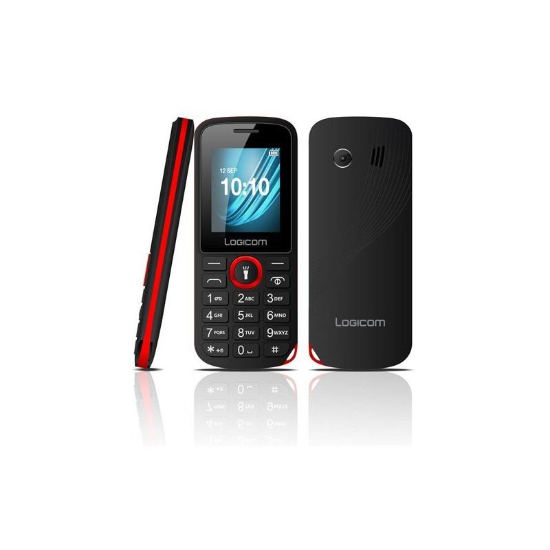Téléphone Portable Logicom L-195 / Rouge + SIM Offerte