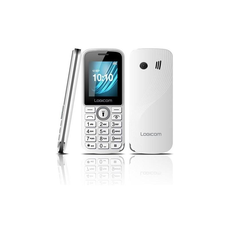 Téléphone Portable Logicom L-195 / Blanc + SIM Offerte