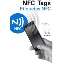 2x Etiquettes adhésives NFC Tags Ksix BXTAG01