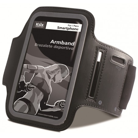 Brassard de sport Ksix pour Smartphone / Noir