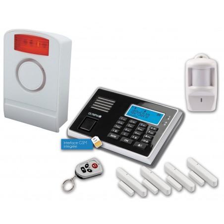 Pack Alarm: Kit Olympia 9061 + Sirène + Détecteur de Choc + Détecteur de Fuite d'eau