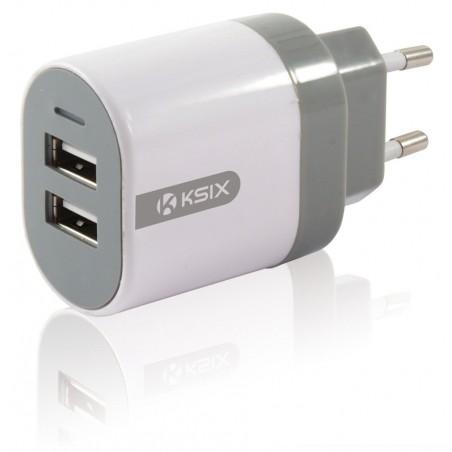 Adaptateur secteur Ksix 3.1A double USB