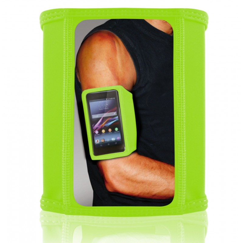 Brassard de sport Ksix pour Smartphone / Taille M / Vert