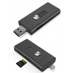 Adaptateur Ksix iMemory Extension double connexion: Lightning et USB