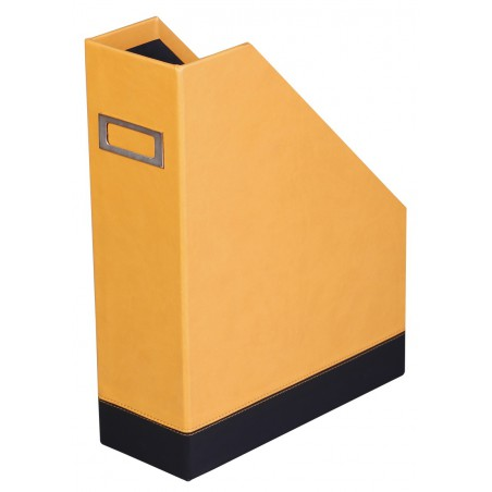 Porte Revue Rhodia en simili cuir / Orange & Noir