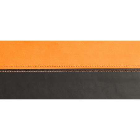 Sous-main Rhodia en Simili cuir / Orange & Noir