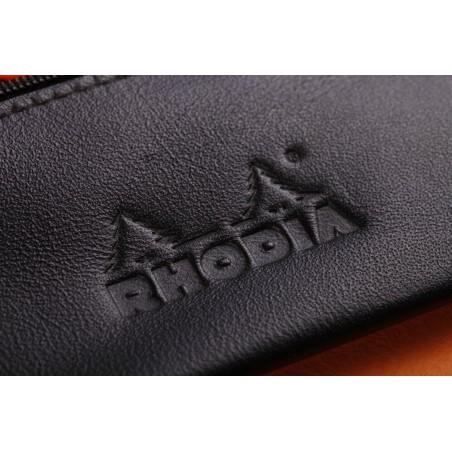 Trousse epure Rhodia en simili cuir souple