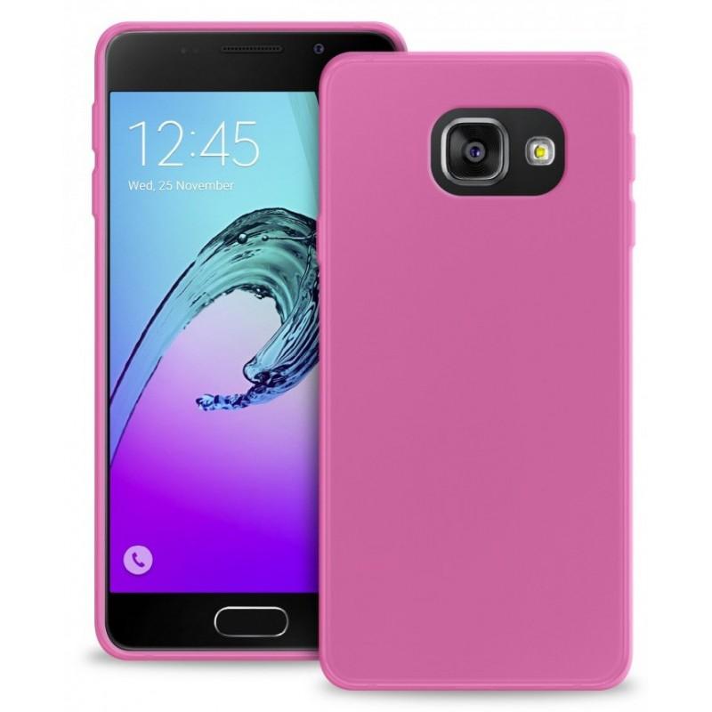 Coque en Silicone pour Samsung A7 2016 / Rose