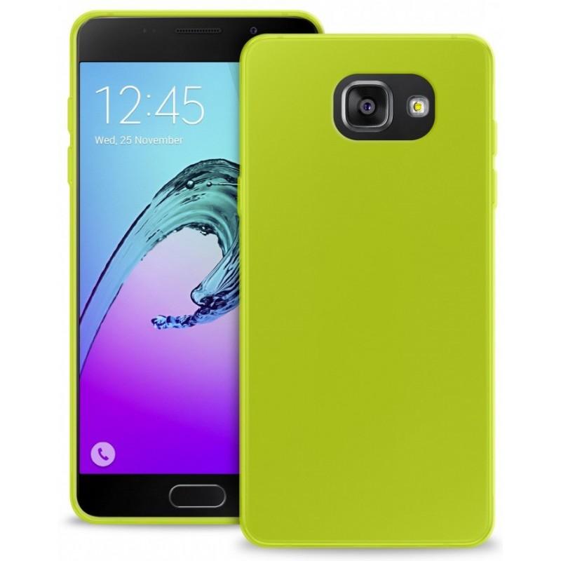 Coque en Silicone pour Samsung A7 2016 / Vert
