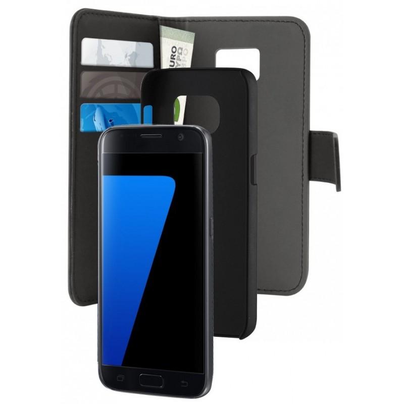 Etui Cover Flip Puro Pour Samsung Galaxy S7 Edge / Noir