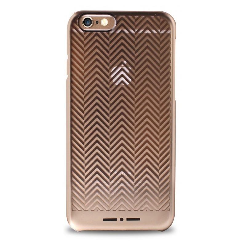 Coque Arrière Puro Chevron pour iPhone 6 / Gold