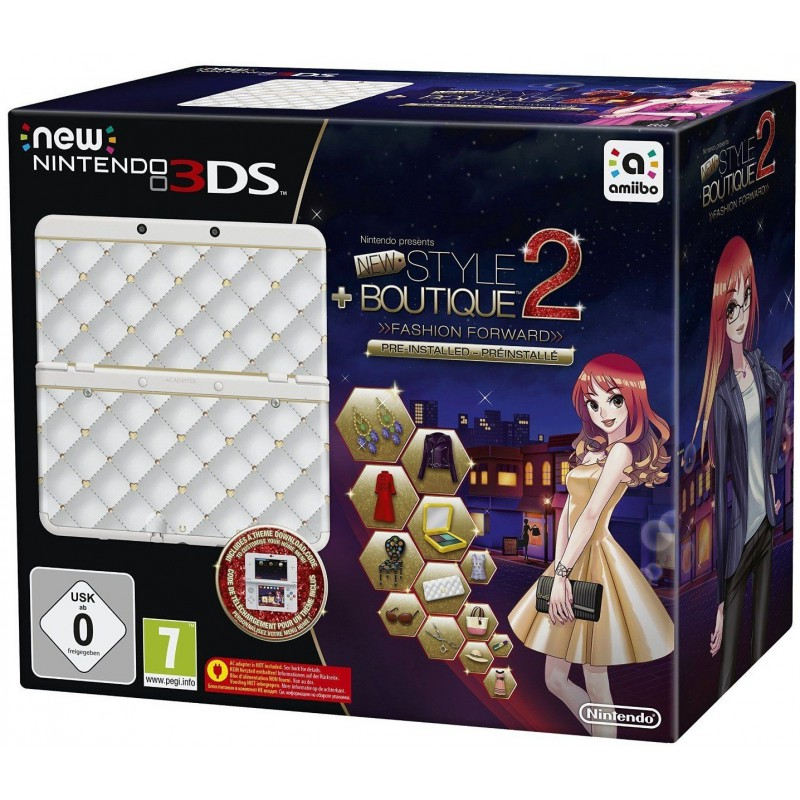 Nintendo 3DS Nouveau Modéle / Blanche + Jeux + Coque