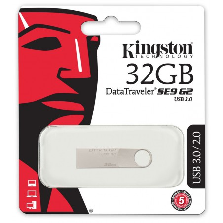 Clé USB Kingston DataTraveler SE9 G2 / 64 Go / Métal / USB 3.0