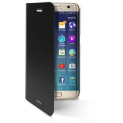 Etui Cover Flip Puro Booklet Crystal pour Samsung Galaxy S7 Edge / Noir
