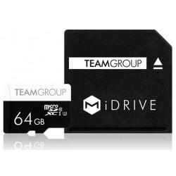 Carte Mémoire MiDRIVE Micro SDXC / 128 Go avec Adaptateur