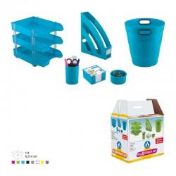 Ensemble de bureau en Plastique 6 pièces 3E / Bleu ciel
