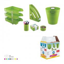 Ensemble de bureau en Plastique 6 pièces 3E / Vert