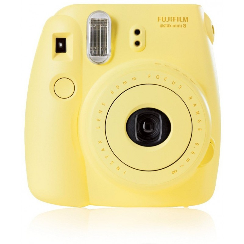 Appareil photo à impression instantanée Fujifilm Instax Mini 8 / Jaune + 10 Films + Etui