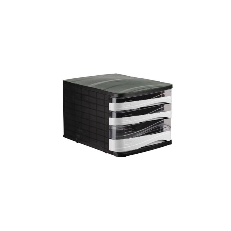 Bloc de 6 Tiroirs ARK Noir/Blanc/Transparent