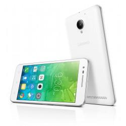 Téléphone Portable Lenovo C2 / Double SIM / 4G / Blanc + SIM Offerte