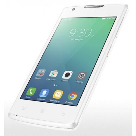 Téléphone Portable Lenovo A1000m / Double SIM / Blanc+ SIM Offerte
