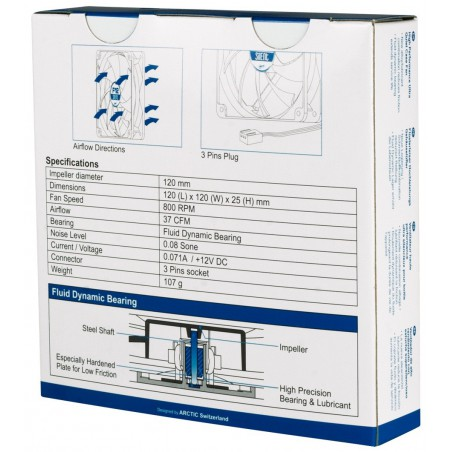 Ventilateur de boîtier Arctic F12 Silent / 120mm