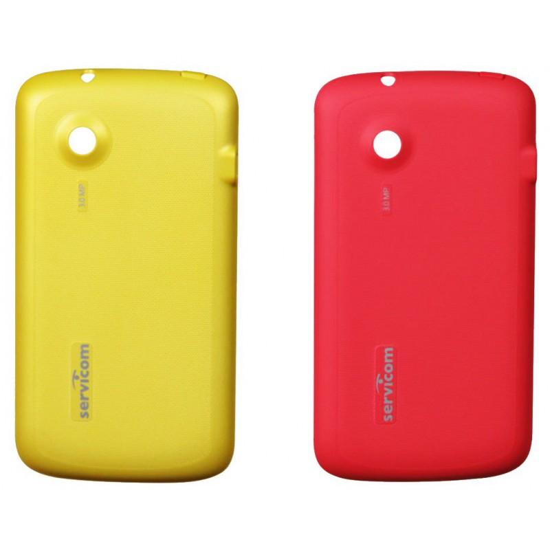 Cache Batterie pour Téléphone portable Servicom Smart / Jaune