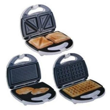 Gaufrier 3 en 1 Sandwich Panini Gaufre Moulinex SW612545