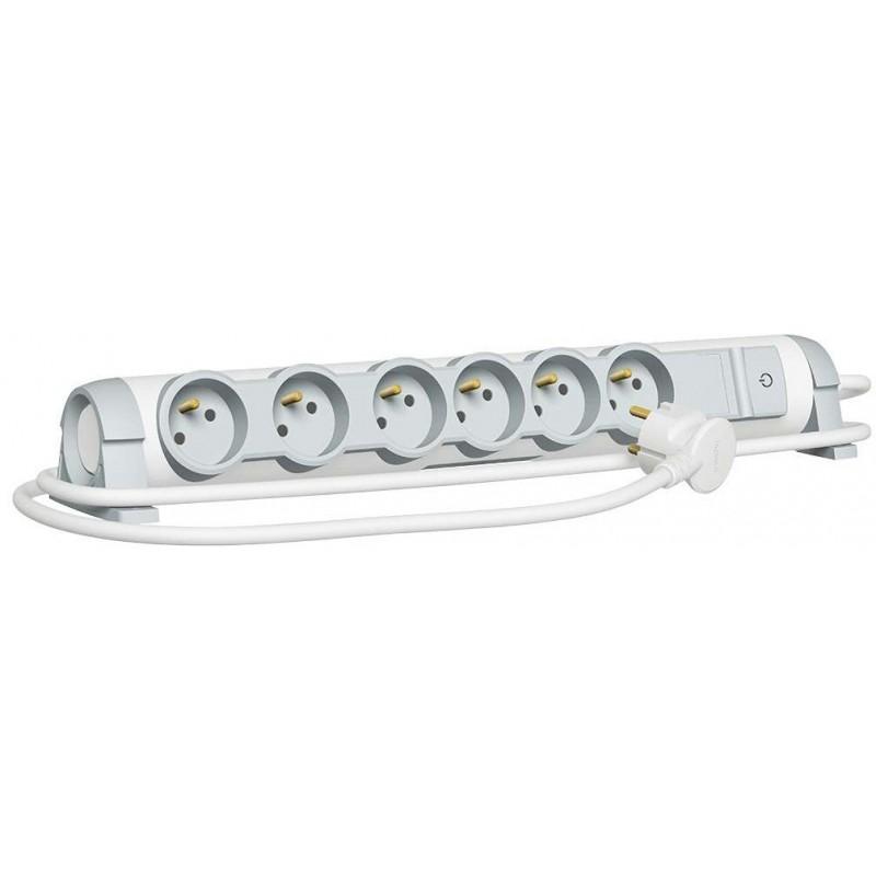 Rallonge multiprise confort et sécurité - Parafoudre - 6x2P+T