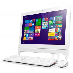 Pc de bureau Lenovo Tout-en-un C20-00 / Quad Core / 4Go / Blanc