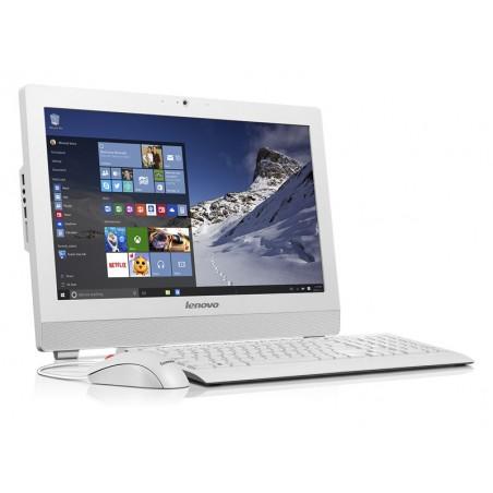 Pc de bureau Lenovo Tout-en-un S200z / Quad Core / 4Go / Blanc