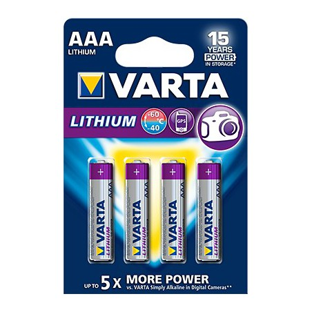 4x Piles Varta Professional Lithium AAA 1.5 V