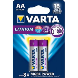 2x Piles Varta Professional Lithium AA 1.5 V