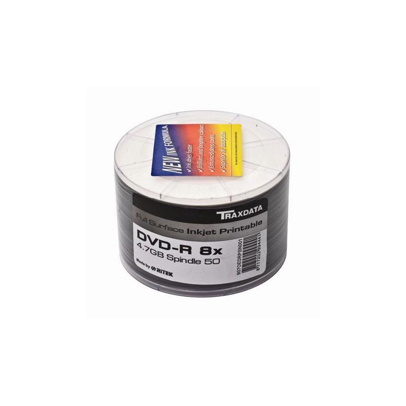 Traxdata Bobine 50x DVD-R 4.7 GB  Imprimable