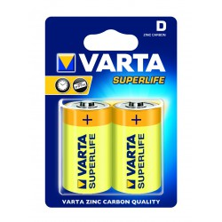 2x Piles D Varta SuperLife R20 BP2