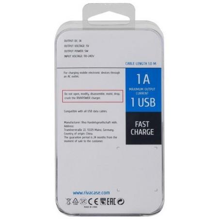 Chargeur Secteur Rivapower VA4111 BD1 EN (1 USB / 1 A)