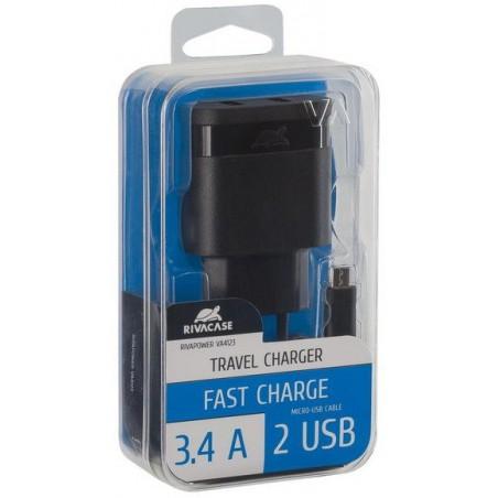 Chargeur Secteur Rivapower VA4123 BD1 EN (2 USB /3.4 A)
