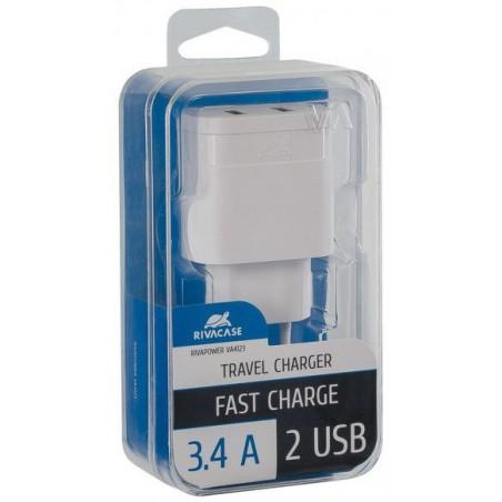 Adaptateur Secteur Rivapower VA4123 W00 EN (2 USB /3.4 A)