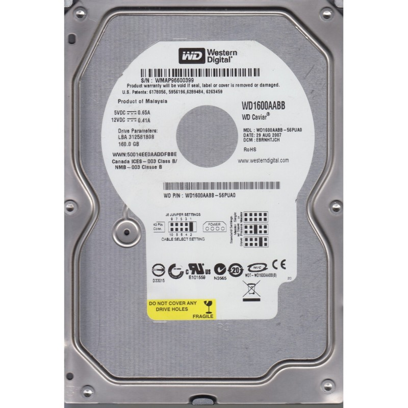 "Disque Dur Interne 3.5"" Western Digital 160Go"