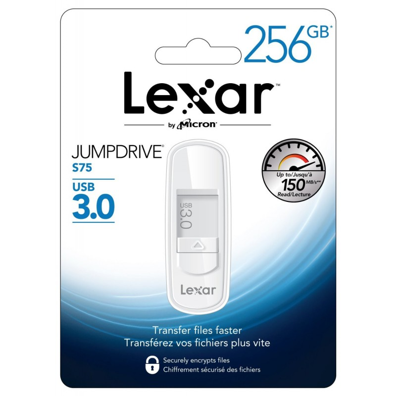 Clé USB 3.0 Lexar JumpDrive S75 / 256 Go