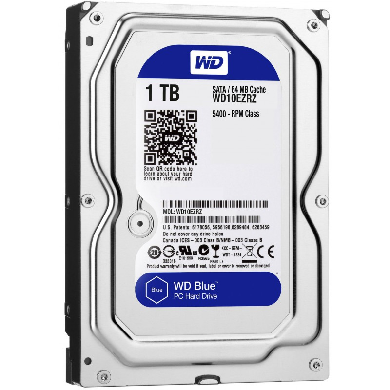 "Disque Dur Interne 3.5"" Western Digital Blue 1 To"