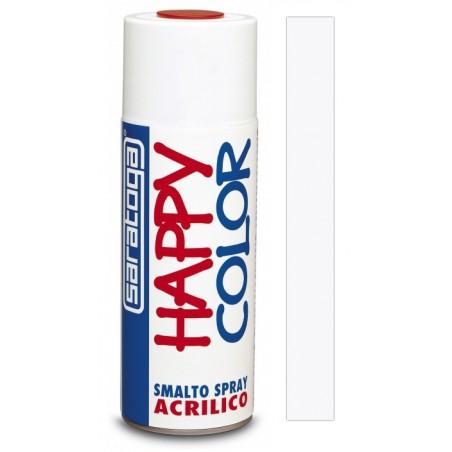 Peinture aérosol Acrylique Saratoga Happy Color / Blanc Brillant Extra