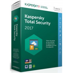 Kaspersky Total Security 2017 - 1 an / 5 Pcs