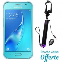 Téléphone Portable Samsung Galaxy J1 Ace / Double SIM / Bleu + SIM Offerte