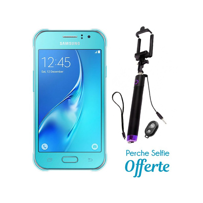 Téléphone Portable Samsung Galaxy J1 Ace / Double SIM / Bleu + SIM Offerte + Selfie Bluetooth