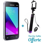 Téléphone Portable Samsung Galaxy J1 Mini Prime / 4G / Double SIM / Noir + SIM Offerte + Selfie Bluetooth
